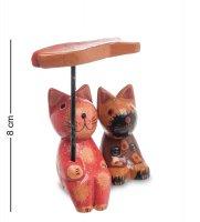 28-057 статуэтка mini кот и кошка под зонтиком, набор 2 шт