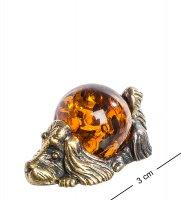 Am-565 фигурка спаниель (латунь, янтарь)