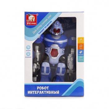 Робот эл., звездный защитник, с русск.озвучив., свет, звук, эл.пит.не вх.в