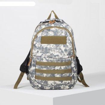 Рюкзак туристический, отдел на молнии, 2 наружных кармана, 2 боковых карма