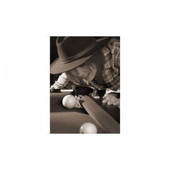 Постер snb02033 (500х700 мм) - девичьи игры на бильярде
