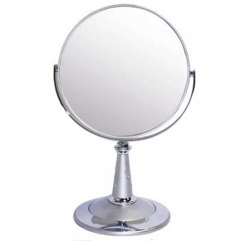 Зеркало b7 809 s3/c silver наст. кругл. 2-стор. 5-кр.ув.18 с