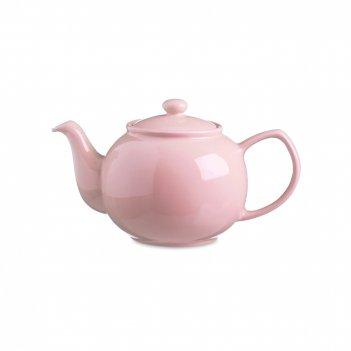 Чайник заварочный, объем: 450 мл, материал: керамика, цвет: розовый, серия