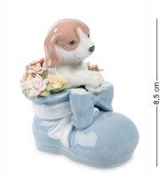 Cms-15/87 фигурка щенок башмачок радости голуб. (pavone)