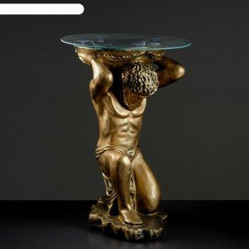 Стол титан бронза 78 см, полистоун