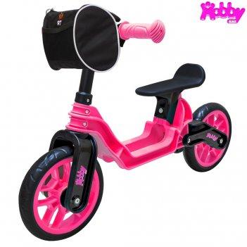 Ор503 беговел hobby bike magestic pink black