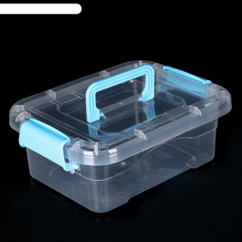 Контейнер для хранения, крышка с ручкой на защёлке 20x15x7,5 см, цвет микс