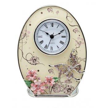 Часы овальные сиреневые сны