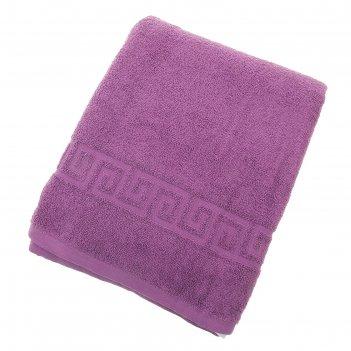 Полотенце махровое однотонное антей цв т-фиолетовый 70*140см 100% хлопок 4