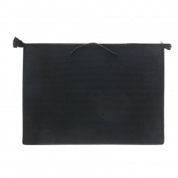 Папка а3 с ручками пластиковая молния сверху 470х335х50 мм, чёрная
