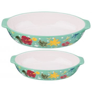 Набор блюд для запекания из 2 шт. 36*21/30*18 см. высота=9/8 см. (кор=3наб