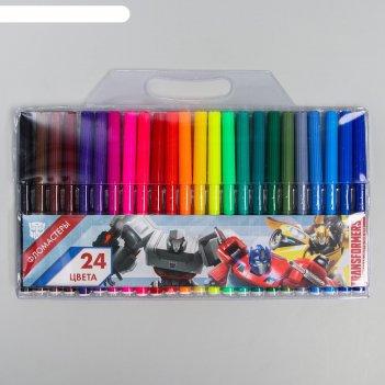 Фломастеры 24 цвета, transformers