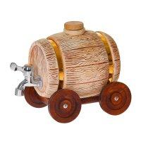 Бочка для напитков колесо шамот 4л