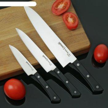 Набор ножей samura harakiri, 3 шт: лезвия 10/12/20 см, цвет чёрный