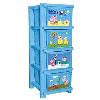 Детский комод для детской комнаты свинка пеппа голубой