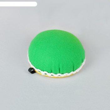 Игольница на руку, цвет зеленый
