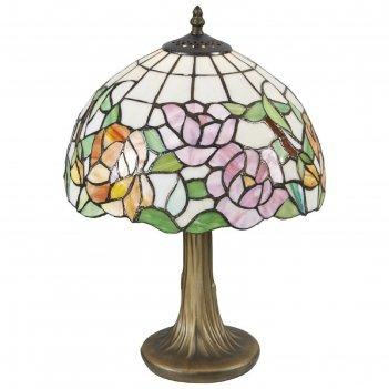 Настольная лампа розы 60вт е27 разноцветный