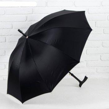 Зонт полуавтоматический «однотонный», r = 51 см, цвет чёрный