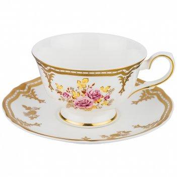 Чайный набор nostalgia rose на 1 персону 2 пр. 250мл.