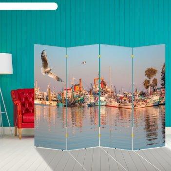 Ширма корабли. декор 23 200 x 160 см