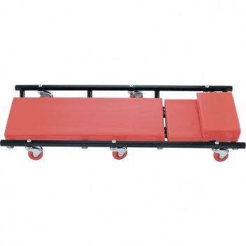 Лежак ремонтный на шести колесах, 1030 х 440 х 120 мм, поднимающийся подго