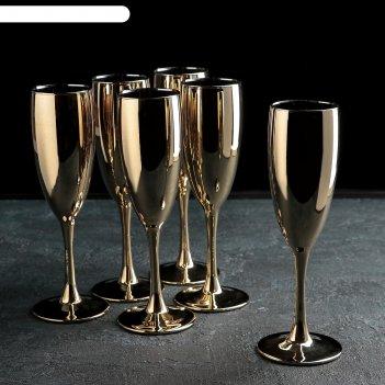 Набор бокалов для шампанского 170 мл золото 6 шт n1687/06z