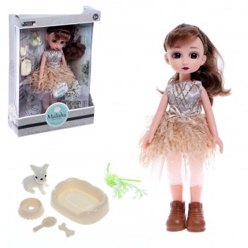 Кукла классическая арина в вечернем платье