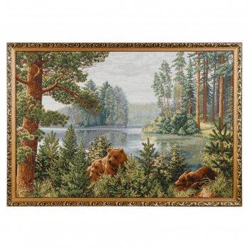 Гобеленовая картина сосновый бор 110х75 см