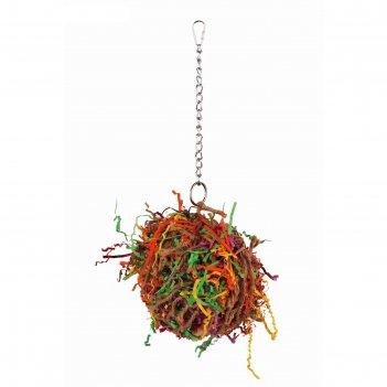 Игрушка fauna int сетка с хвостиками, для птиц, малая