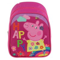 Рюкзачок детский свинка пеппа 23*19*8 дев счастье фиолетовый 32040