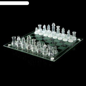 Шахматы стекло доска прозрачная 24*24