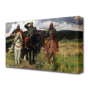 Картина на холсте три богатыря