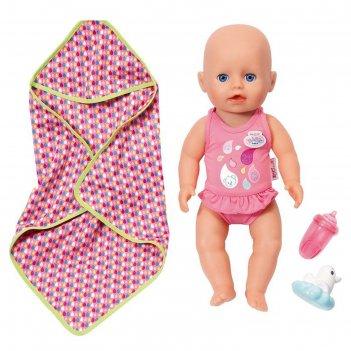 Кукла интерактивная little baby born «кукла для игры в воде», 32 см