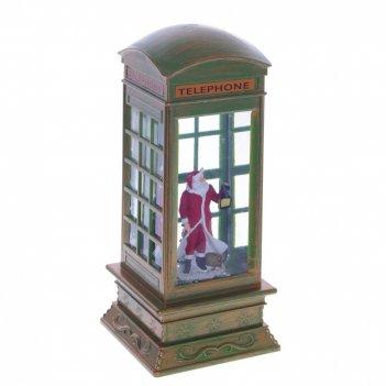 Фигурка декоративная с подсветкой и эффект. вьюги  телефонная будка, l10 w