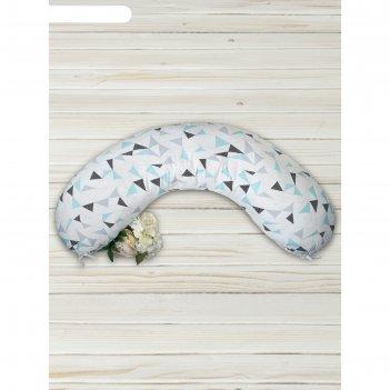 Наволочка к подушке для беременных soft collection, размер 25x170 см, треу