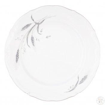 Набор плоских тарелок 25 см repast серебряные колосья (6 шт)