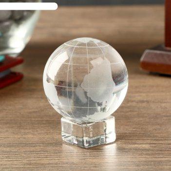 Сувенир стекло глобус на подставке 6,2х5х5 см