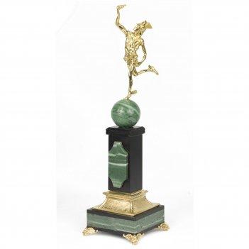 Статуэтка гермес офиокальцит змеевик бронза 100х100х360 1850 г