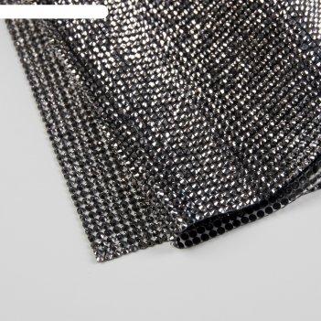 Стразы термоклеевые d3мм 40*24см графитовый