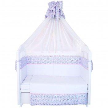 Комплект в кроватку «очарование», размер 60x120 см, 7 предметов