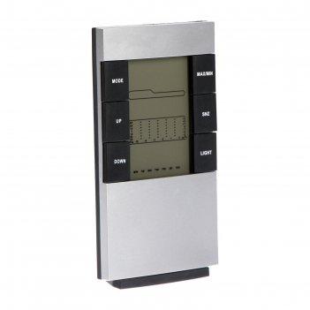 Часы-будильник luazon lb-01 2*ааа, led подсветка, дата/часы/температура, в