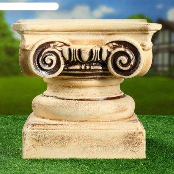 Садовая фигура колонна классическая малая шамот