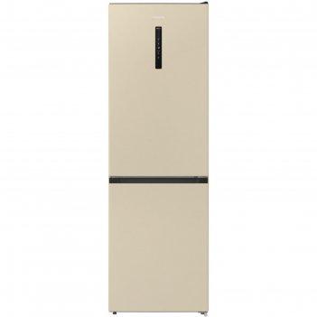 Холодильник gorenje nrk6192ac4, двухкамерный, класс a++, 302 л, бежевый