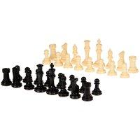 Шахматные фигуры, король 10.2 см, пешка 5.3 см, в пакете, 31х27 см