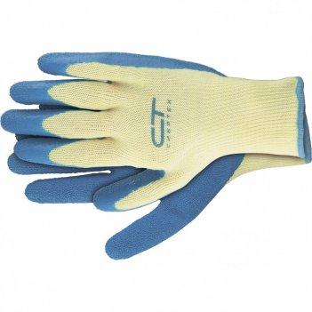 Перчатки трикотажные, полиэфирные, латексное рельефное покрытие, xl сибрте