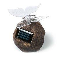 Садовый светильник на солнечной батарее butterfly on rock, серия special
