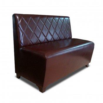 Диван «лайт р пл», 1200 x 640 x 915 мм, экокожа, цвет коричневый