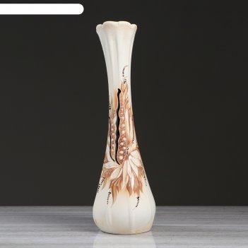 Ваза напольная форма лилия шамот