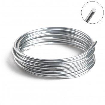 Проволока для плетения d=3.8мм, намотка 3м, цвет серебра