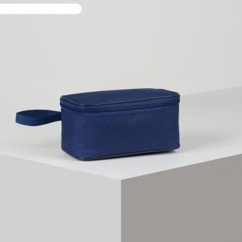 Косметичка дорожная сумка 22*11*10  принт, подклад,  диамонд синий